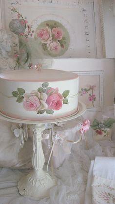 Cindy Ellis shabby chic pink roses