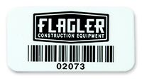 Economical polyester labels and polyester barcode labels are adhesive-backed for permanent attachment.