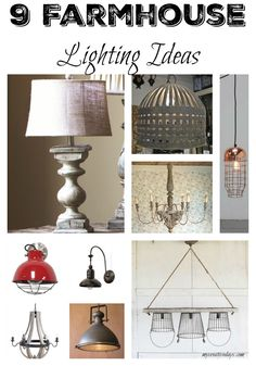 mycreativedays: 9 Farmhouse Lighting Ideas