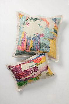 Abstraction Pillow, Rectangle - Anthropologie.com