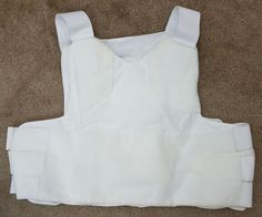 Custom Armor Technologies CAT White Low Vis Soft Body Armor Plate Carrier Vest L #CustomArmorTechnologiesCAT