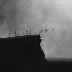 Stark yet absolutely uplifting paintings by Indonesian artist Elicia Edijanto. Please continue below for even more of Elicia's paintings: [[MORE]]Elicia Edijanto: Website Dark Fantasy Art, Dark Art, Whats Wallpaper, Superflat, Arte Obscura, Black And White Aesthetic, Dark Photography, Aesthetic Pictures, Aesthetic Wallpapers