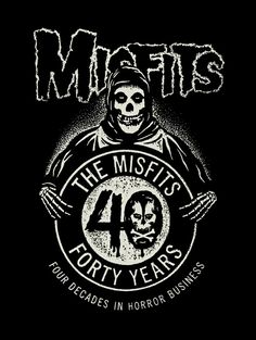 Misfits Fleece Blanket, The Misfits Forty Years Four Decades In Horror Business Inches x 60 Inches), Misfits Anniversary Fleece Blanket, Misfits Home Décor, Misfits Merchandise Rock Posters, Band Posters, Music Posters, Concert Posters, Rock N Roll, Misfits Band, Danzig Misfits, Arte Punk, Punk Poster