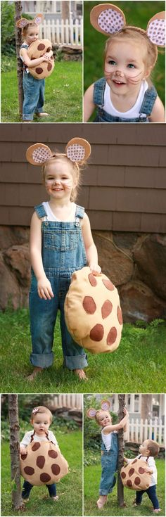 Book Character Halloween Costume: If You Give a Mouse a Cookie. Have the cookie be the trick or treat bag. Or have a younger sibling be the cookie! DIY Halloween costumes DIY kids costumes #halloween