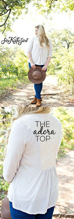 The Adora Top | handmade top | fall fashion for women | fall style ideas | fall fashion | fall style tips | cool weather fashion | handmade clothing ideas || See Kate Sew