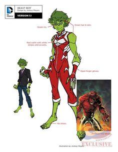 "First Look at DC's ""Teen Titans"" Rebirth Designs - Beast Boy Beast Boy, Titans Rebirth, Dc Rebirth, Arte Dc Comics, Damian Wayne, Hq Marvel, Superhero Design, Dc Comics Characters, Teen Titans Go"