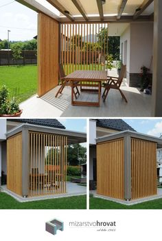 Beste Haus Markise Whilst early around thought, the actual pergola has been experiencing a modern-day Outdoor Pergola, Backyard Pergola, Patio Roof, Backyard Landscaping, Outdoor Decor, Deck Patio, Porch Awning, Pavers Patio, Patio Awnings