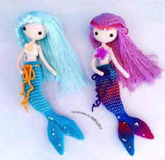 Mermaid Ava  Works done by my pattern buyer 绿野寻踪M . Beautiful mermaid  #crochet #crochetdoll #doll #mermaid
