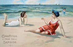 """Greetings from the Seaside"" ~ Vintage postcard"