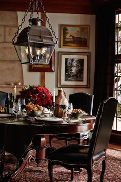ralphlauren: Bountiful tabletop: flowers, candles and treats to start the Thanksgiving feast.