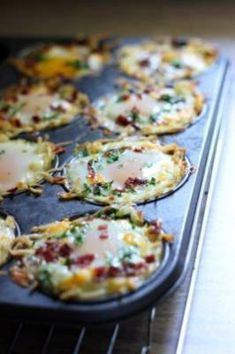 Hash Brown Egg Nests with Avocado Shredded hash browns and cheese nests baked until crispy topped with a baked eggs, crumbled bacon and more cheese. Served with chilled avocado slices. Breakfast For Kids, Breakfast Dishes, Breakfast Casserole, Breakfast Recipes, Mexican Breakfast, Breakfast Sandwiches, Breakfast Pizza, Shredded Hash Browns, Potato Salad With Egg