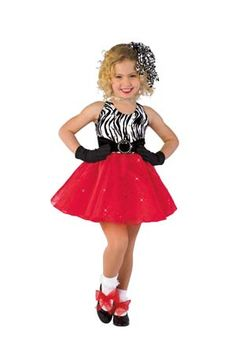 NWT Op Art Mini Dress Jazz Dance Costume BlackWht w// HAT Ch//ladies Pleather
