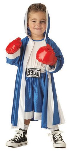 This is a knockout of a child's' Halloween costume! This boxer Halloween costume for kids is a winner. Our Everlast Boxer costume delivers the. Boxer Halloween, Toddler Halloween Costumes, Baby Halloween, Halloween Shoes, Kids Costumes Boys, Halloween 2014, Halloween Activities, Boxer Costumes, Cute Costumes