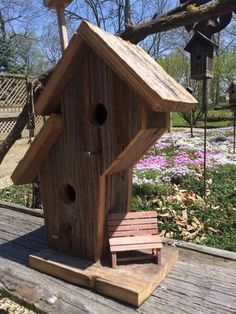 2 Room Duplex Barnwood Birdhouse by BirdhousesByBear on Etsy
