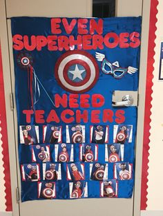 Superhero Classroom Door Student New Ideas Superhero School Theme, Superhero Classroom Decorations, Teacher Door Decorations, Superhero Teacher, School Themes, Classroom Themes, Superhero Door, Classroom Design, Future Classroom