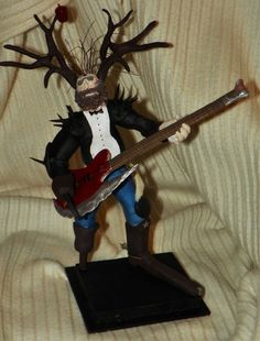 Bass Guitar, Rolling Stones, Keith Richards, Pirate, Deer, Hunter, Wood, Music