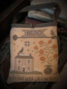 primitive cross stitch