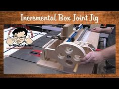 (85) Homemade box/finger joint jig with an incremental positioner (Incra I-box style) - YouTube