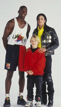 Michael Jordan, Macaulay Culkin, and Michael Jackson. The Greatest Basketball Player of All Times,The Greatest Entertainer of All Times and Just A Little Boy You Loved To Get Into Trouble,lol MJ,MJ,MC