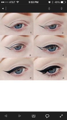 Wingtip eyeliner