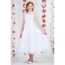 Sequined Organza Overlay First Communion Dress features satin fabric with organza overlay on skirt. This White First Communion Dress offers an accented bodice with pearl and sequin beads. Buy First Communion Dresses with Beaded Bodice on Sale Girls First Communion Dresses, Holy Communion Dresses, Size 14 Dresses, Dresses For Sale, Lace Sleeves, Buy Dress, Ball Gowns, Size 12, Bridesmaid