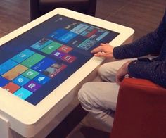 Touch Screen Coffee Table for Sale Unique Removable 55 Inch Wifi Interactive Multitouch Table. Coffee Tables For Sale, Diy Coffee Table, Diy Table, Cool Tech Gadgets, Home Gadgets, Cooking Gadgets, Cooking Tools, Coffee Table Computer, Table Tactile