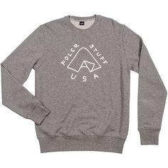 Poler Tent Crew Sweatshirt (780 ZAR) ❤ liked on Polyvore featuring men's fashion, men's clothing, men's hoodies, men's sweatshirts, mens crewneck sweatshirts, mens sweatshirts, mens sweatshirts and hoodies and mens crew neck sweatshirts