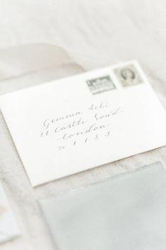 Calligraphy Hand Lettered Envelope Addressing