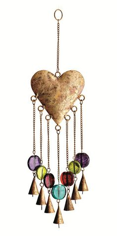 Watch our Heart Windchimes move gracefully in the wind  I would like to have one of those