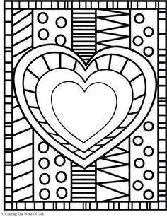 Heart (Coloring Page) Coloring pages are a great way to end a Sunday School lesson. They can serve as a […] Make your world more colorful with free printable coloring pages from italks. Our free coloring pages for adults and kids. Heart Coloring Pages, Free Printable Coloring Pages, Coloring Books, Animal Coloring Pages, Free Printables, Valentines Day Coloring, Valentine Day Crafts, Valentines Art For Kids, Valentine Theme