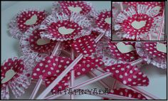 Cup Cake Liners Flowers with straw stems