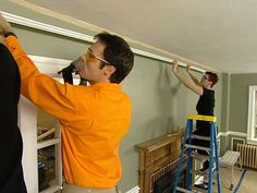 Follow these steps to install a picture rail for a unique way to hang artwork around a room.