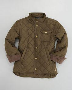 Z0QVF Ralph Lauren Childrenswear Richmond Woven Bomber Jacket, Sizes 8-10