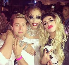 Omg this is so perfect! One of my favs Lance Bass with Bianca and Adore!