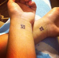Matching tattoo with my sister and soon brothers and other sister, Roman numeral six for the total number of us children. (My 5 siblings and I)