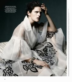Stella Tennant Poses in Couture for WSJ Magazine, Shot by Daniel Jackson by danielle