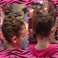 Kids upwork #braid #bun #enzoriccobenesalon