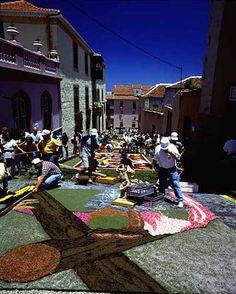 alfombras de La Orotava. Tenerife, Islas Canarias