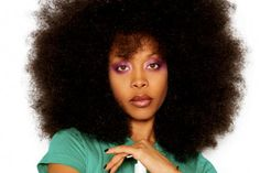 Ms. Badu puts the afro in AFROstory. This blowout is fierce!