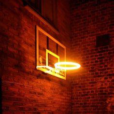 neon basketball hoop, sam jacob studio