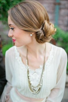 Vintage meets boho: http://www.stylemepretty.com/2014/06/04/15-updos-that-wow/: