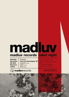 """""""madluv"""" by adília lima / portugal, 2016 / digital print, 420 x 594 mm Font Design, Graphisches Design, Graphic Design Layouts, Graphic Design Posters, Graphic Design Typography, Graphic Design Inspiration, Game Design, Layout Design, Vintage Design Poster"""