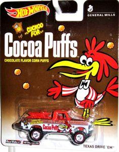 Hot Wheels Pop Culture General Mills Texas Drive 'Em Cocoa Puffs Real Riders  #HotWheels #Ford