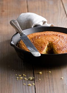 Cornbread - GORGEOUS! Lonesome yet comforting. The missing slice.. the deliberate crumbs.