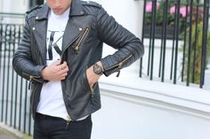 Perfect match: THOMAS SABO watch and leather jacket