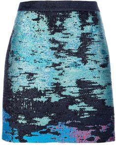 Proenza Schouler Printed Mini Skirt in Green - Lyst