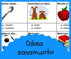 Puhe ja kieli Finnish Language, Daily Five, Montessori, Vocabulary, Map, Teaching, School, Peda, Location Map