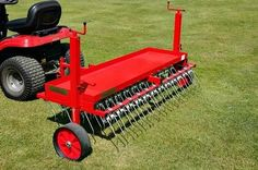 Heavy duty towable scarifying rake. Towable scarifying rake for removing moss and thatch from your lawn or fields. Lawns and horse paddocks benefit from scarifying ensuring healthy grass growth.  For more info: http://www.fresh-group.com/scarifying-rakes.html