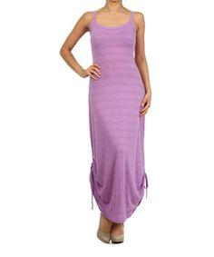 Another great find on #zulily! Lilac Drawstring Hem Sleeveless Dress #zulilyfinds