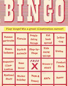 I Want My Next Artist To Have A Varied Portfolio Play Bingo What